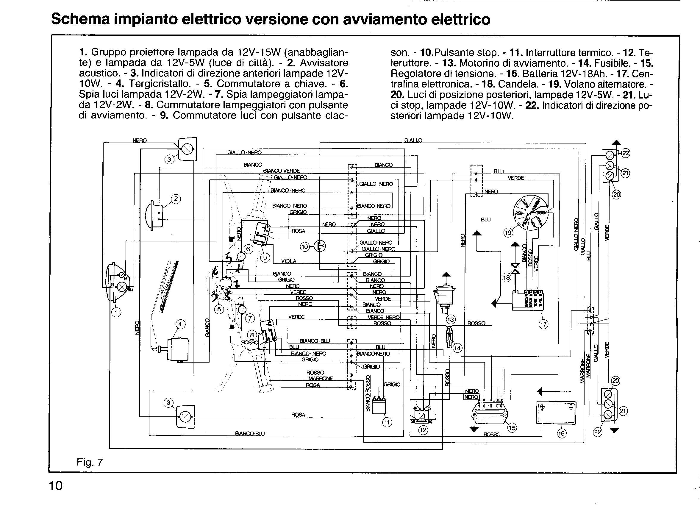 Schema Elettrico Husqvarna Sm : Ciao cross club schema elettrico ape tm