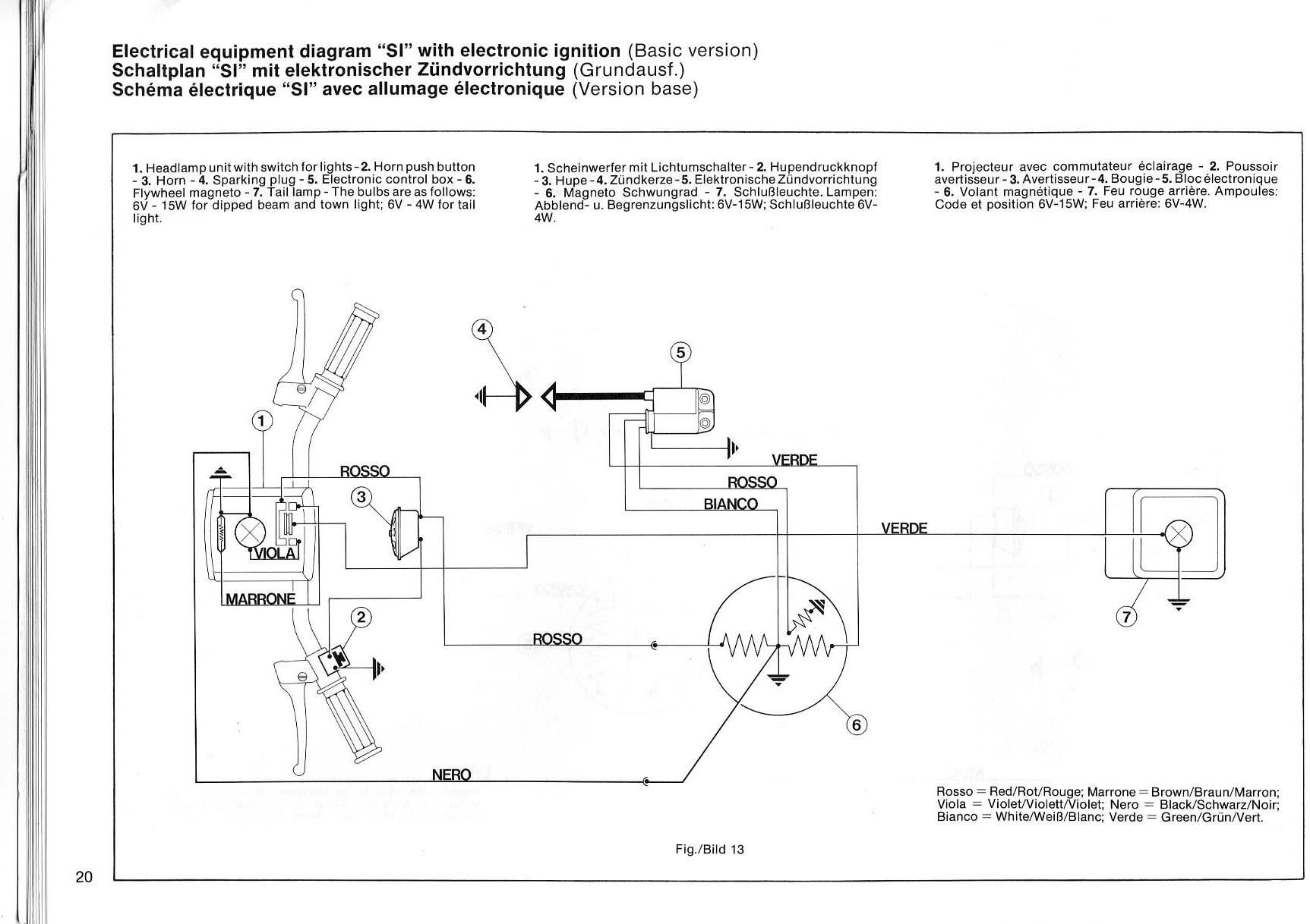 Schemi Elettrici Base Per Principianti : Ciao cross club schema elettrico si versione base e