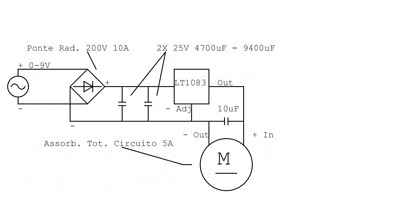 Schema Elettrico Regolatore Di Tensione Velocità Motore Elettrico Corrente Continua : Schema elettrico trapano reversibile