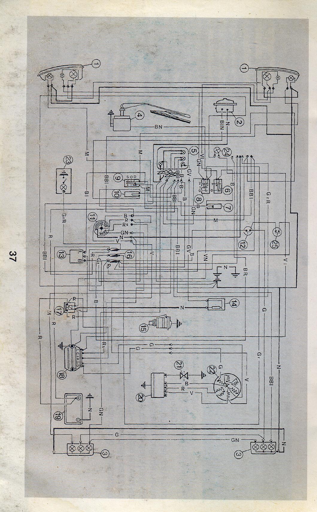 Schema Elettrico Ape 50 Monofaro : Schema elettrico ape piaggio idee di immagine del